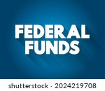 federal funds text quote ... | Shutterstock .eps vector #2024219708