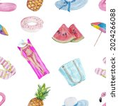 seamless pattern with cute... | Shutterstock .eps vector #2024266088