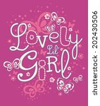 lovely lil' girl | Shutterstock .eps vector #202430506