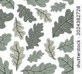 green oak leaves vector... | Shutterstock .eps vector #2024382728