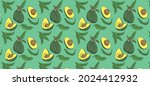 Avocado Fruit Pattern Design...