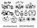 set of fall elements. autumn...   Shutterstock .eps vector #2024456402