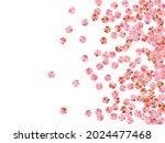 peach gold foil confetti... | Shutterstock .eps vector #2024477468