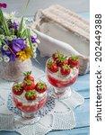 dessert made with fresh... | Shutterstock . vector #202449388