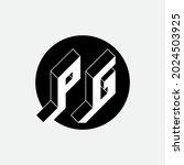 p and g   monogram or logotype. ... | Shutterstock .eps vector #2024503925