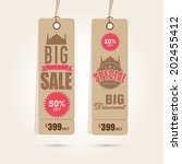 offer and discount sale tags in ... | Shutterstock .eps vector #202455412