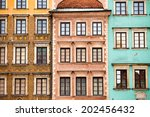 Colourful Buildings In The...