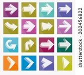 arrow icons vector illustration ... | Shutterstock .eps vector #202456822
