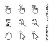 finger and arrow pointer...   Shutterstock .eps vector #2024621828