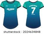 women sports jersey t shirt... | Shutterstock .eps vector #2024634848