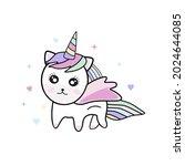 beautiful cute unicorn... | Shutterstock .eps vector #2024644085