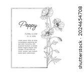 hand drawn poppy floral... | Shutterstock .eps vector #2024654708