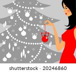 The Woman Is Decorating A...