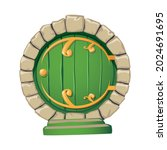 cartoon doors composition with... | Shutterstock .eps vector #2024691695