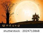 halloween scary pumpkin faces ... | Shutterstock .eps vector #2024713868