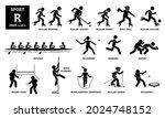 Sport Games Alphabet R Vector...