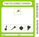 find the correct shadows game... | Shutterstock .eps vector #2024762825