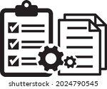 tasks. clipboard icon. task...   Shutterstock .eps vector #2024790545