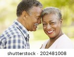 senior  couple romantic portrait | Shutterstock . vector #202481008