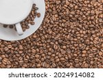 coffee. cup of cappuccino with...   Shutterstock . vector #2024914082