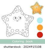 cartoon starfish coloring book... | Shutterstock .eps vector #2024915108