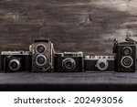 Old Cameras Retouching Vintage