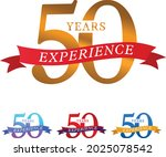 various color options 50 years... | Shutterstock .eps vector #2025078542