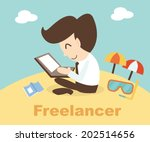 freelancer concept   business... | Shutterstock .eps vector #202514656