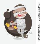 cute cartoon little boy in... | Shutterstock .eps vector #2025173348