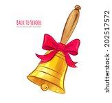 school bell. hand drawn vector... | Shutterstock .eps vector #202517572