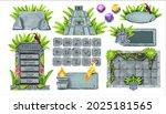 stone game ui vector set  rock...