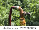 A old water spigot with a...