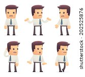 set of manager character in...   Shutterstock .eps vector #202525876