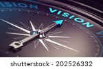 compass with needle pointing... | Shutterstock . vector #202526332