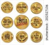 golden metal badges | Shutterstock .eps vector #202527136