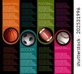 sports info graphic design | Shutterstock .eps vector #202531996