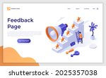 landing page template with man... | Shutterstock .eps vector #2025357038