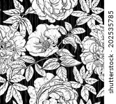seamless vintage pattern with... | Shutterstock .eps vector #202535785