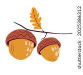 vector illustration of oak...   Shutterstock .eps vector #2025386312