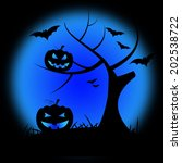 halloween tree meaning trick or ... | Shutterstock . vector #202538722