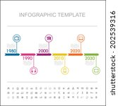 timeline infographic with... | Shutterstock .eps vector #202539316