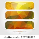 set orange banners. vector eps... | Shutterstock .eps vector #202539322