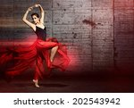 dancing woman | Shutterstock . vector #202543942