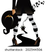 witchy halloween party design.... | Shutterstock .eps vector #202544506