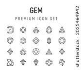 premium pack of gem line icons. ...