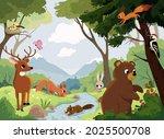 cartoon vector animals that... | Shutterstock .eps vector #2025500708