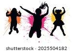 silhouette of jumping girls... | Shutterstock .eps vector #2025504182