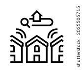 neighborhood in area line icon... | Shutterstock .eps vector #2025505715