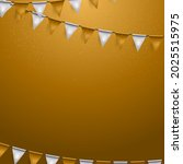 party background with flags...   Shutterstock .eps vector #2025515975