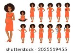 cute african woman pregnant in...   Shutterstock .eps vector #2025519455